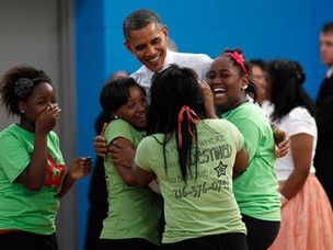 The President and the Young Ladies
