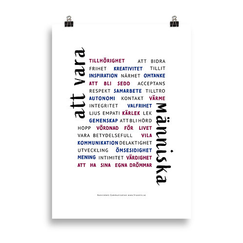 Poster Att vara människa Färg