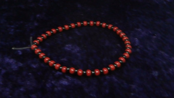 Ide Esu Elegua Santeria Orisha Bracelet - Red and Black beads