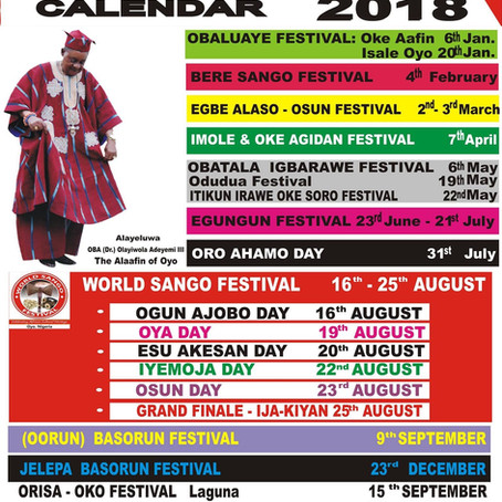 IFA Festivals in Oyo for 2018