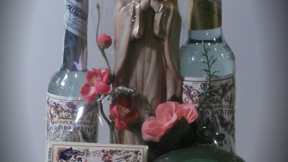 Murray & Lanman Virgin Mary Statue (Florida Water) Gift Basket