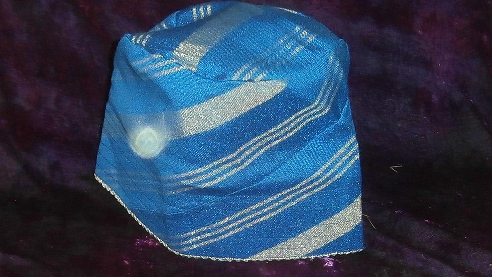 Aso Oke Hat in Blue