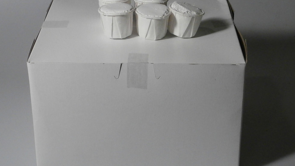 Cascarilla (Diaspora); 100 (1/2) oz. cups/Box Net Wt. 3.4 lbs