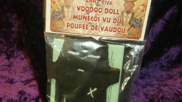 Anna Riva VooDoo Doll Black / Munecos Vu Du / Poupee De Vanudou