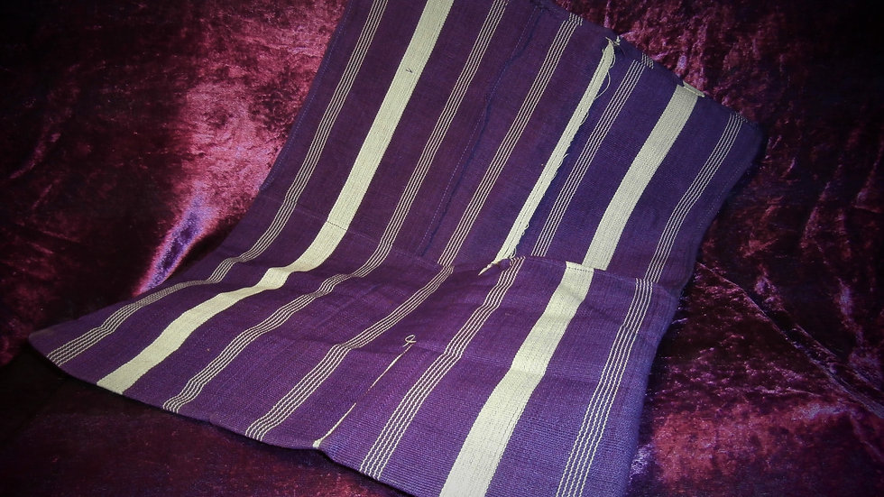 Apo IFA / Traditional Divination Bag - Purple & White