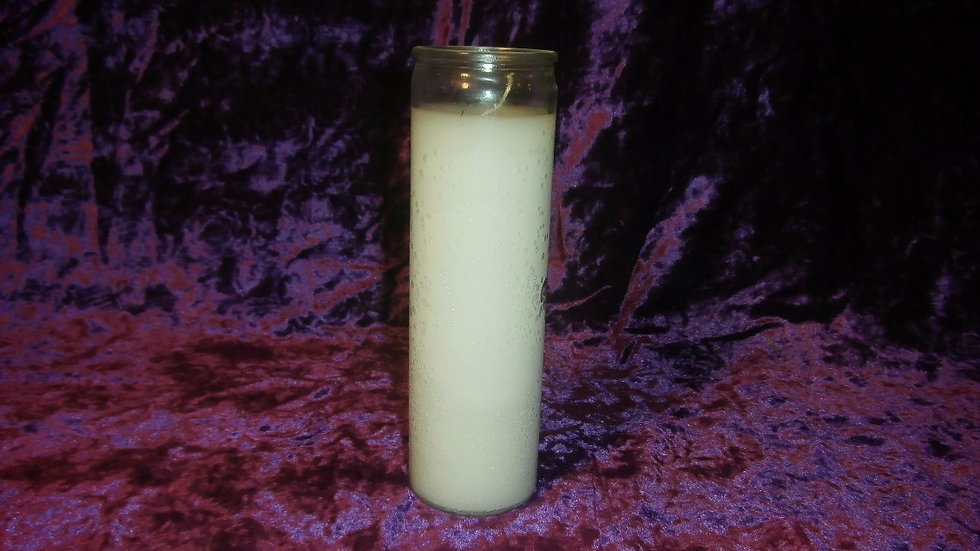 INDIO - White Candle - Plain 1 Color 7 Day Candle