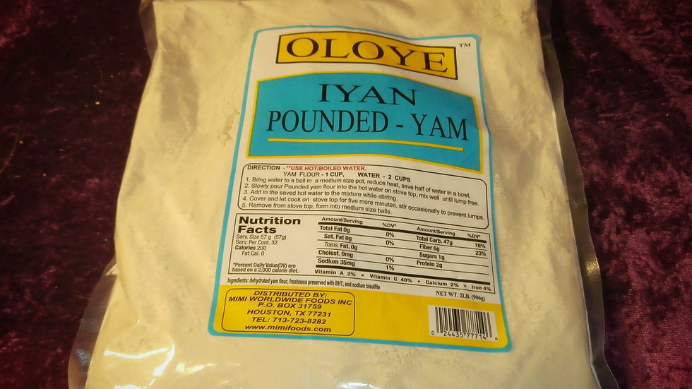 Iyan / Pounded - Yam Net. Wt. 2lbs. (906g)