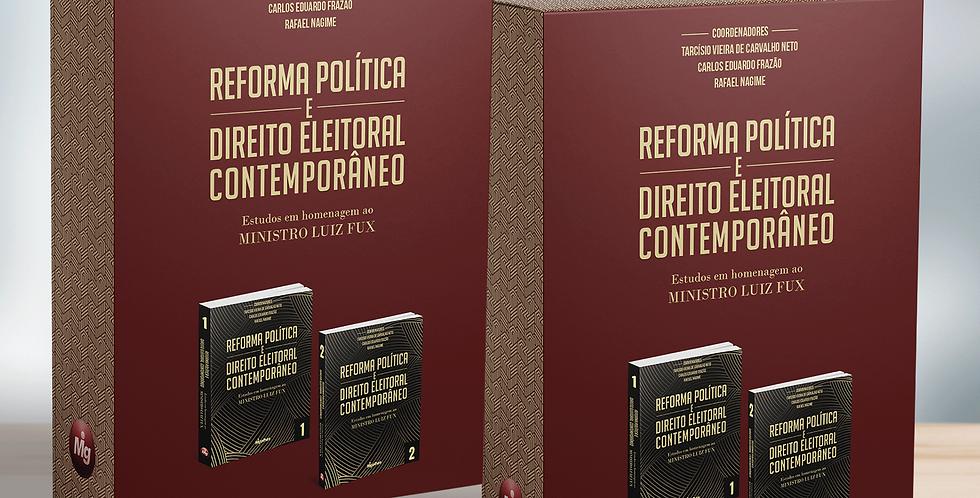 """2 volumes do BOX """"Reforma Política e Direito Eleitoral Contemporâneo"""""""