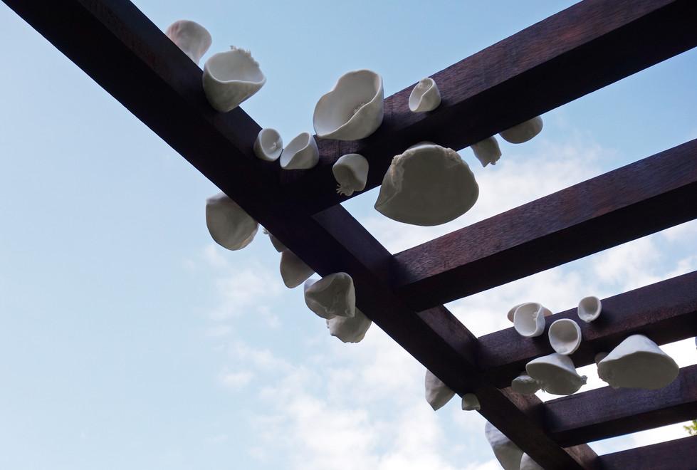 'Archi-sporophore' installation in situ (détail) 2020