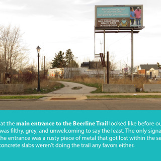 Beerline Trail Entrance - Before