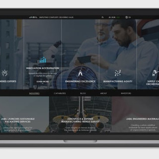 Jabil Homepage Redesign