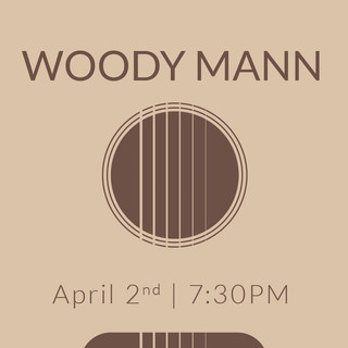 Poster Design for Woody Mann Performance