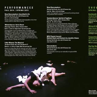 UWM 2014/15 Dance Season Brochure - Inside