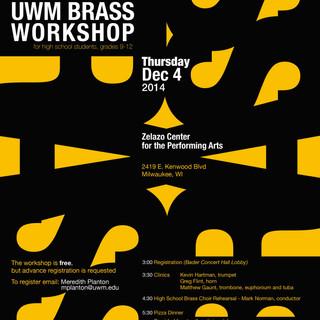 UWM Brass Workshop Mailer