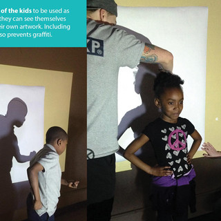 Making Silhouettes of the Kids