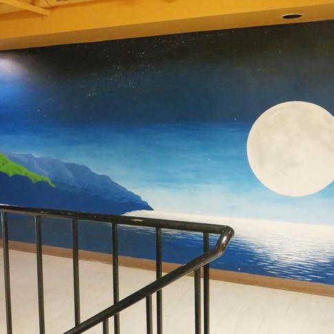 Moon Mural in Surroundings