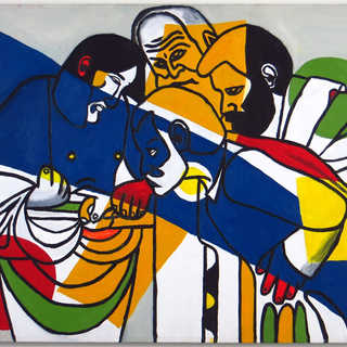 The Doubting of Leger Tryptich - Panel 2
