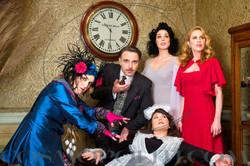 The cast of Blithe Spirit