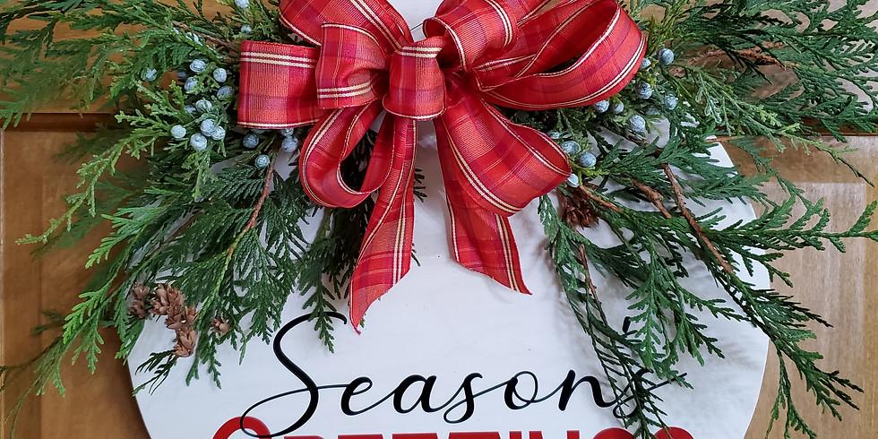 Wood Wreath Hanger