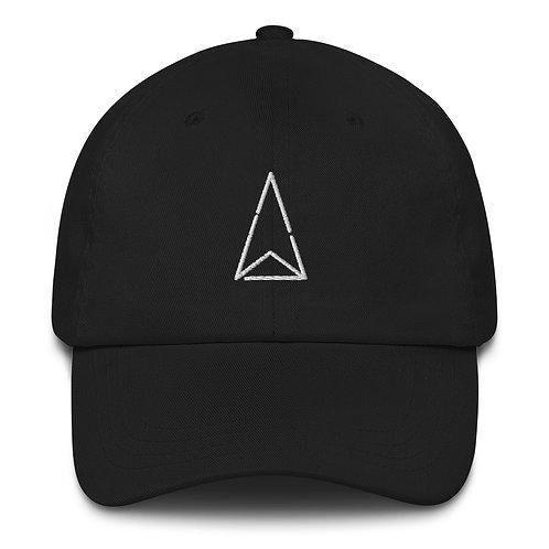 Dad Hat Logo White