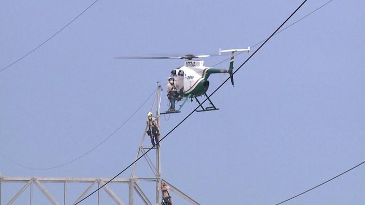 Journeyman helicopter lineman job