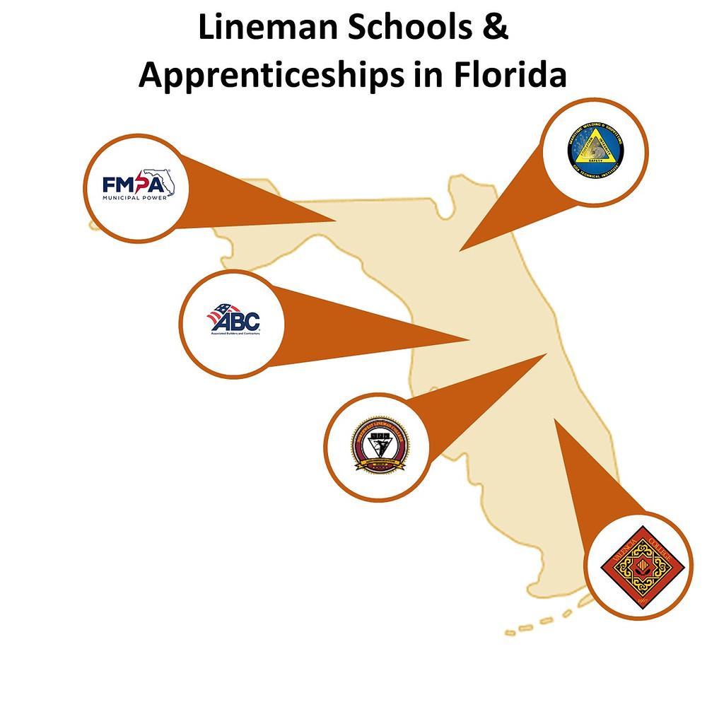 Lineman Schools and Apprenticeships in Florida