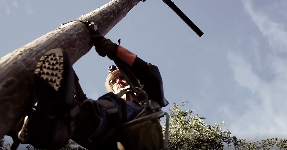 lineman training to climb