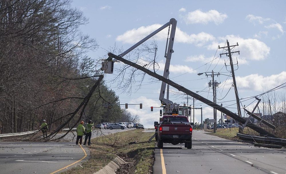 a time of lineman work to repair electric lines