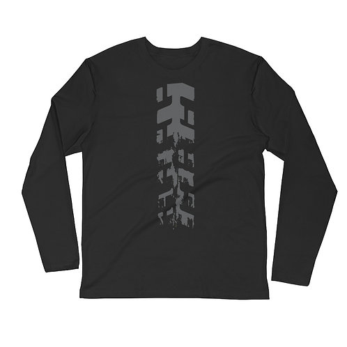 TREAD ON ME   ∞   Long Sleeve Fitted Crew