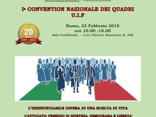 1^ Convention quadri UIF