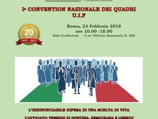 I Convention nazionale dei Quadri UIF