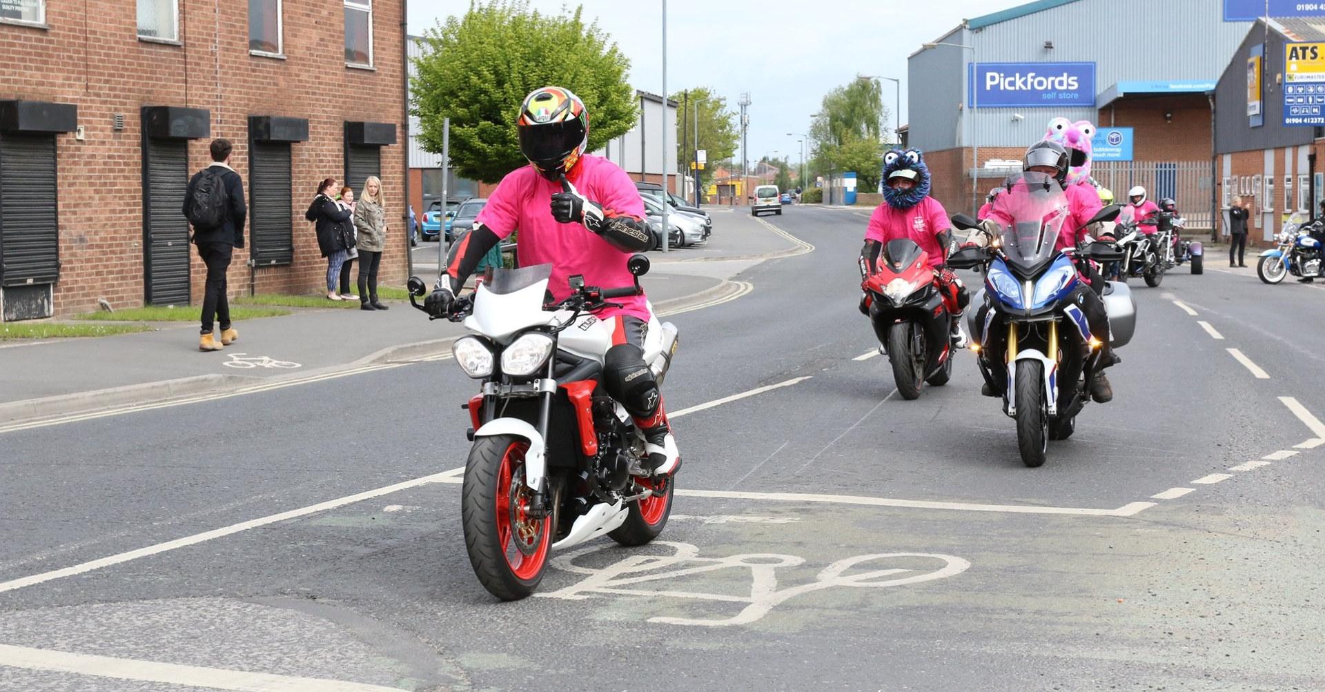 Marshals leaving York Triumph