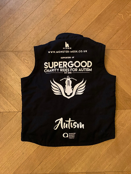 VEST - Autism Awareness Bikers - Large only  - 42 chest
