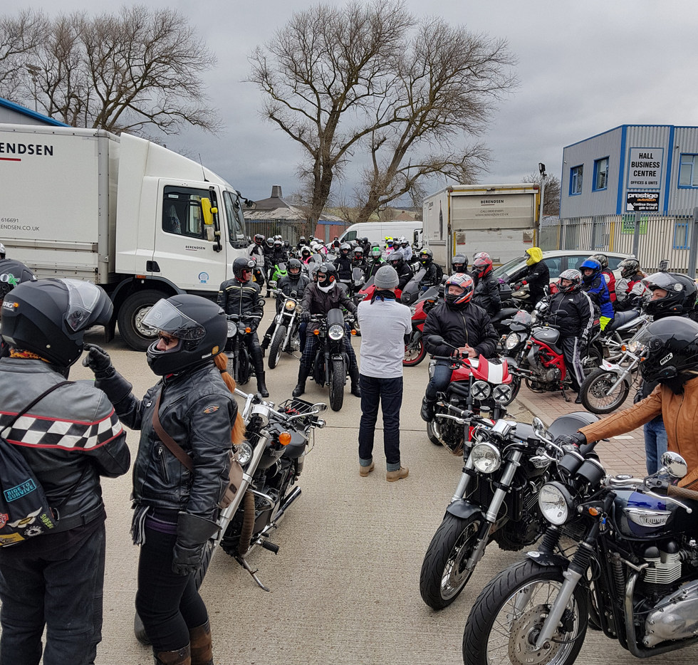 The cafe racer store car park