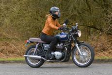 Brighton rider on Triumph