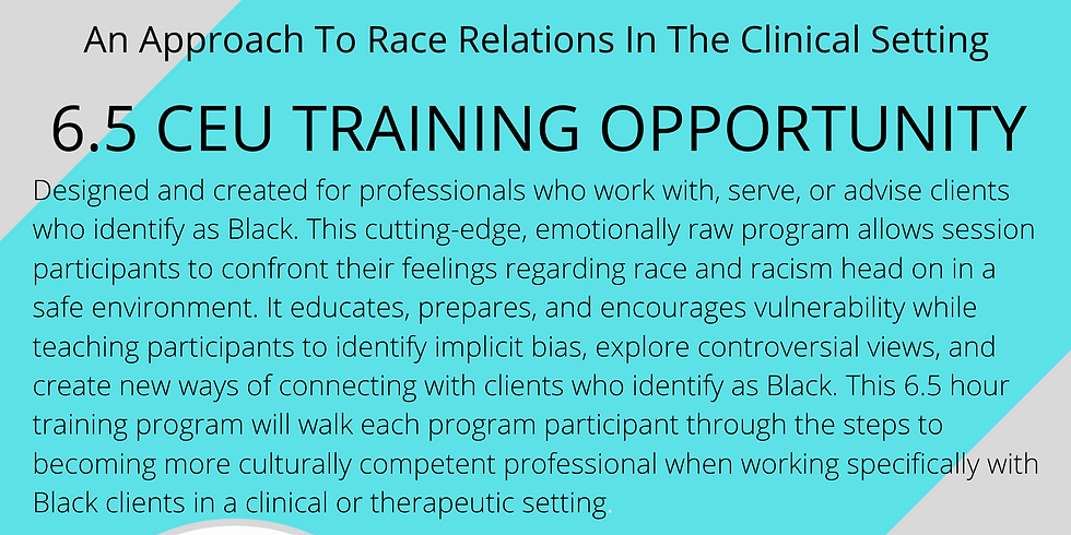 Racial Reconciliation: An approach to Race relations in the clinical setting