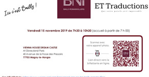 Rappel: Lancement du groupe BNI Bailly-Romainvilliers le 15/11.