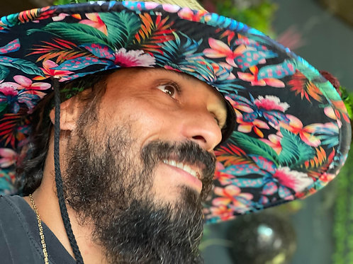 Floral Papale Straw Hat