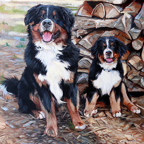 "24""x24"" custom oil painting starting at $1,100"
