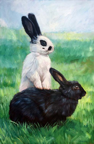 Bunny Painting | BFF Pet Paintings