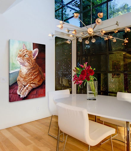 This beautiful orange cat portrait is Fred's prize possesion