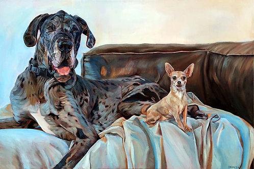 "24""x36"" custom oil painting starting at $1,600"