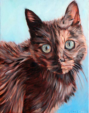 Cat Painting Portrait