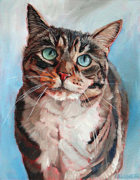 This cat portrait I did in exchange for a few massages from a massage therapist. I'm always open to that kind of trade.