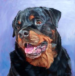 Hand-painted dog portrait
