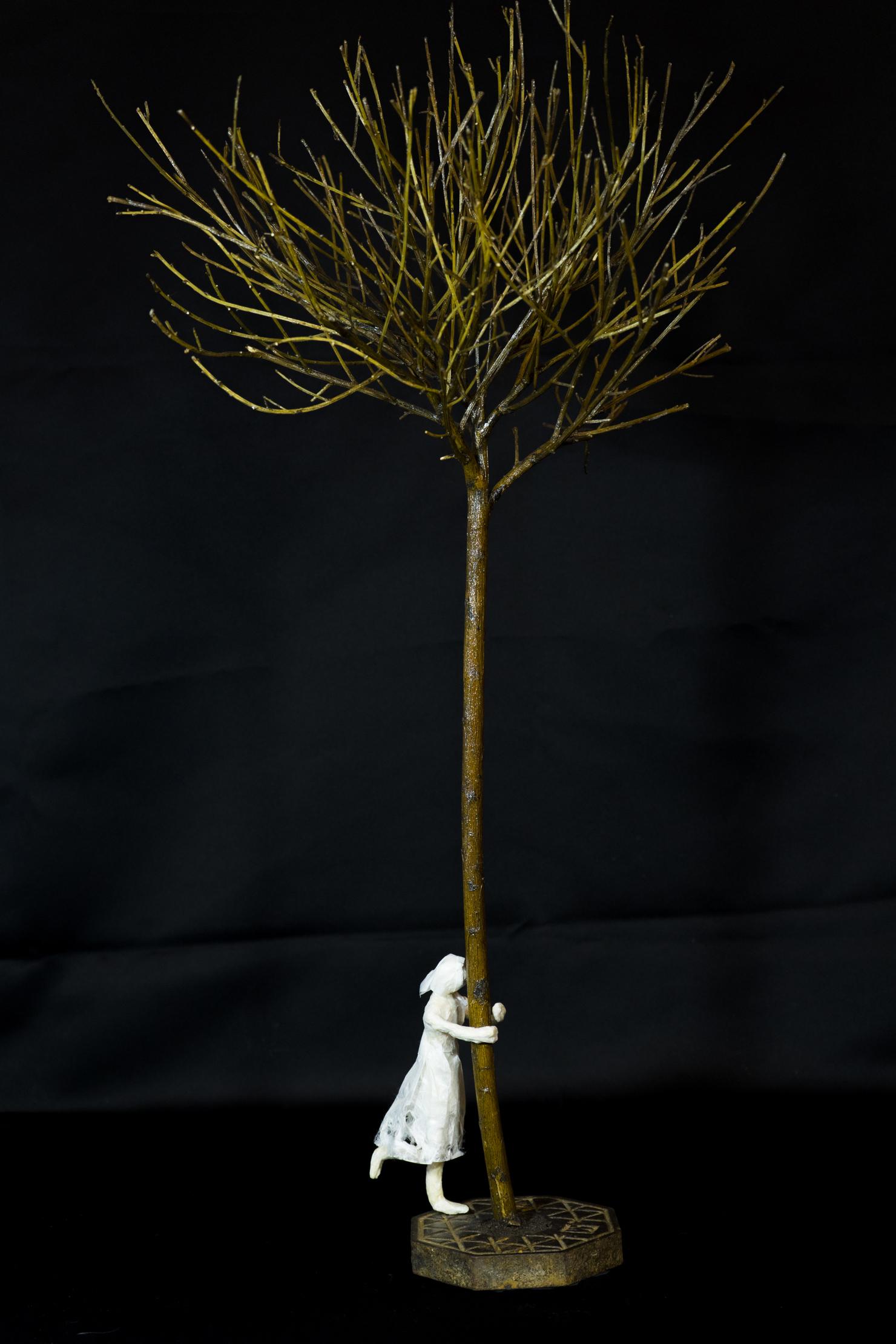 La demoiselle et l'arbre