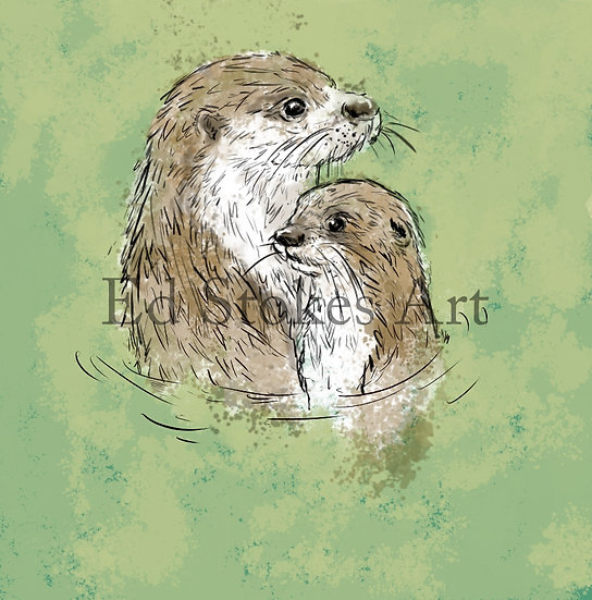 Otter & Pup Card
