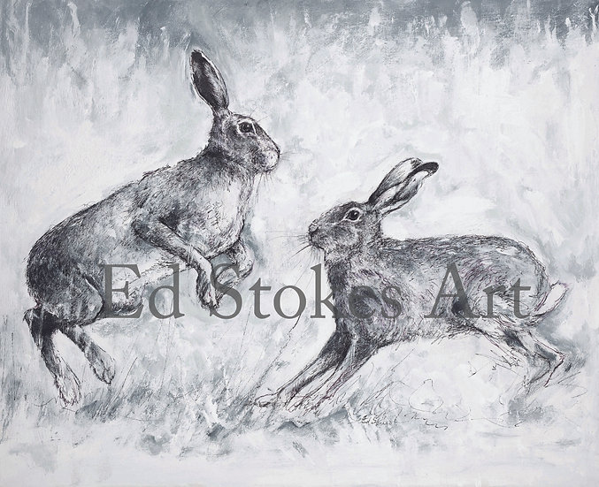 Courting Hares Print