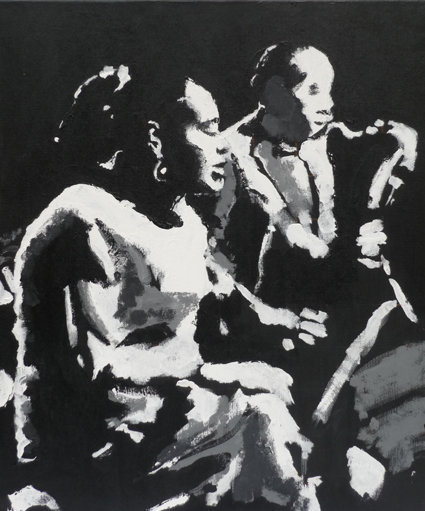 Billie Holiday and Lester Young Print